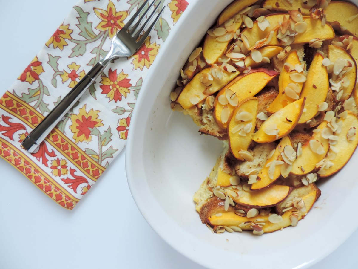 Peach and Almond French Toast Bake | Boston Chic Party