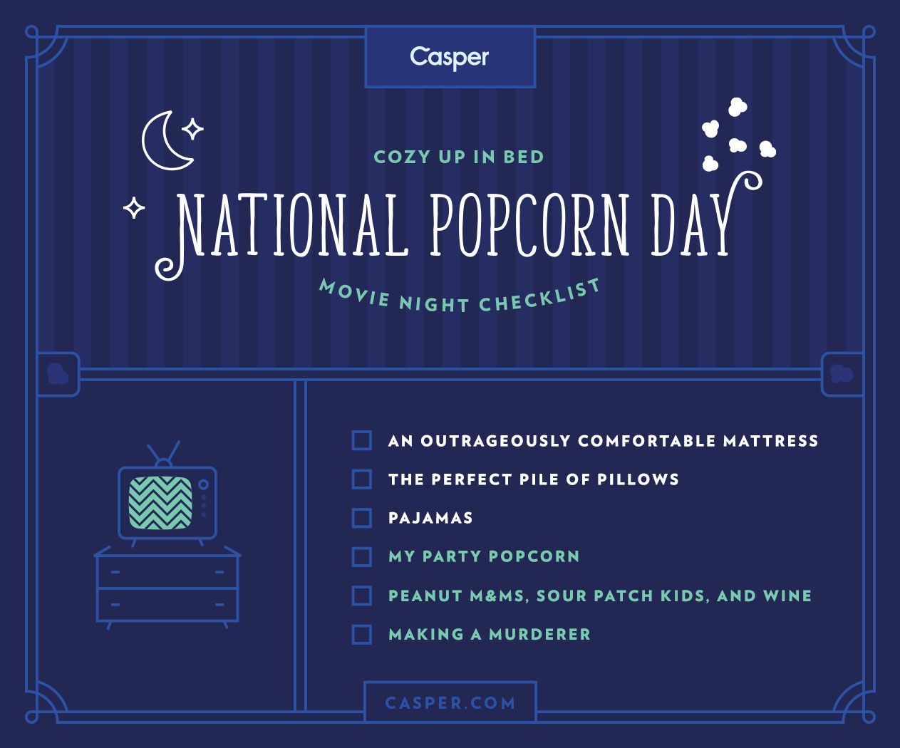 National Popcorn Day With Casper