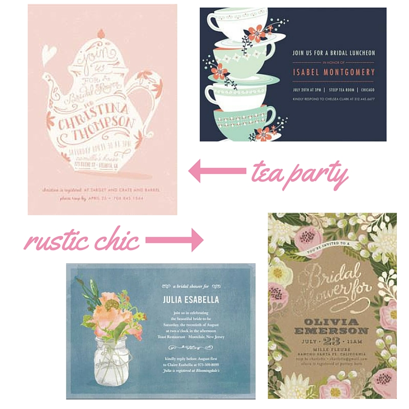 hostess with the mostest bridal shower invitation inspiration boston chic party