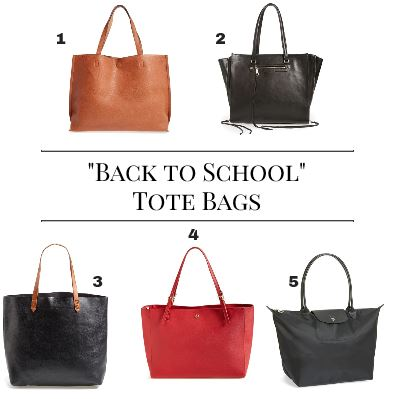 Back to school tote bags- Boston Chic Party