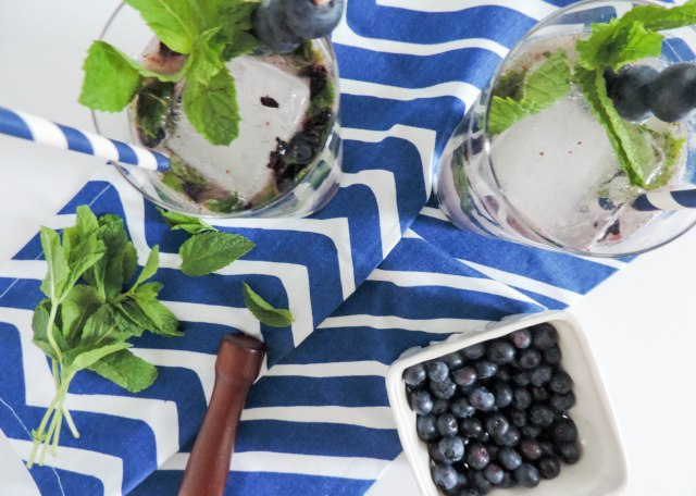Blueberry Mojito- Summer Cocktail Recipe- National Rum Day- Boston Chic Party-3