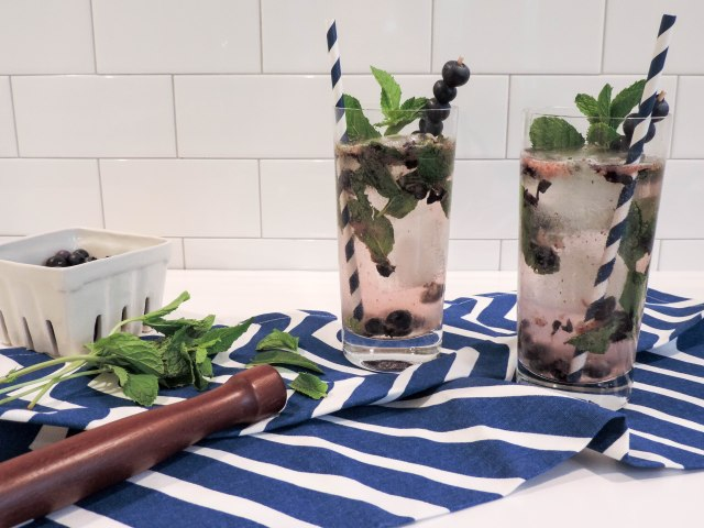 Blueberry Mojito- Summer Cocktail Recipe- National Rum Day- Boston Chic Party-6