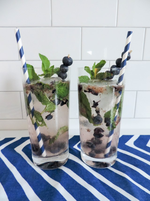 Blueberry Mojito- Summer Cocktail Recipe- National Rum Day- Boston Chic Party-8