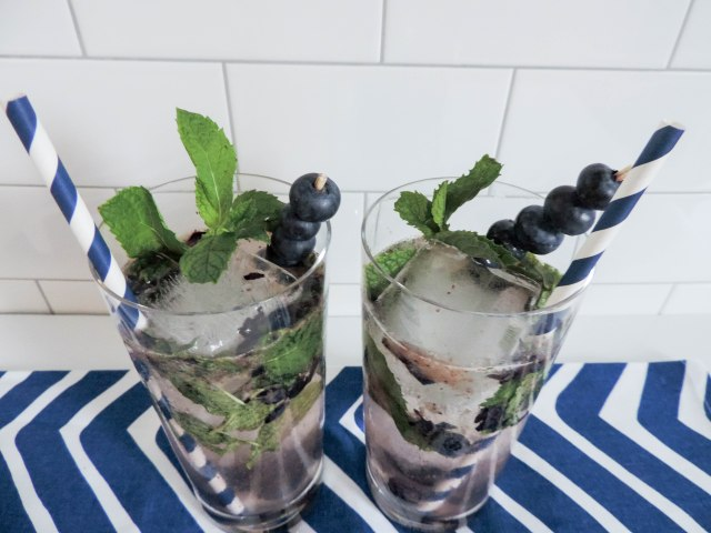 Blueberry Mojito- Summer Cocktail Recipe- National Rum Day- Boston Chic Party-9