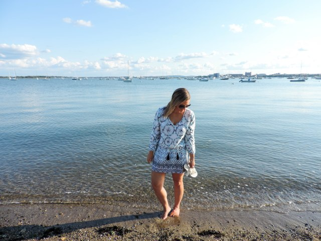 Last Summer Beach Weekend with Green Dragon- Green Dragon Coverup- Coverup dress- Boston Chic Party-1