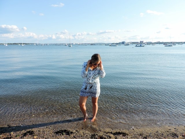 Last Summer Beach Weekend with Green Dragon- Green Dragon Coverup- Coverup dress- Boston Chic Party-5