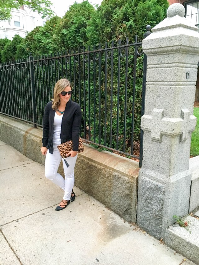 Leopard and Lace Ups- Transitioning to Fall-Fall Fashion- Leopard clutch- Boston Chic Party-1