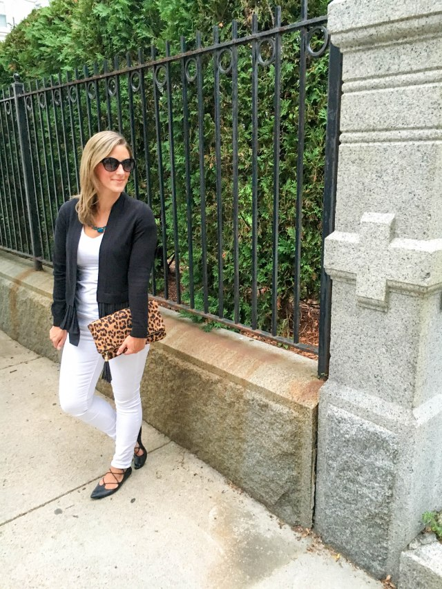 Leopard and Lace Ups- Transitioning to Fall-Fall Fashion- Leopard clutch- Boston Chic Party-2