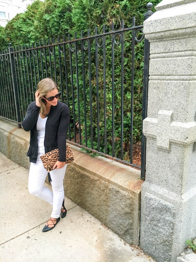 Leopard and Lace Ups- Transitioning to Fall-Fall Fashion- Leopard clutch- Boston Chic Party-3