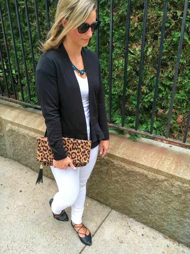 Leopard and Lace Ups- Transitioning to Fall-Fall Fashion- Leopard clutch- Boston Chic Party-4