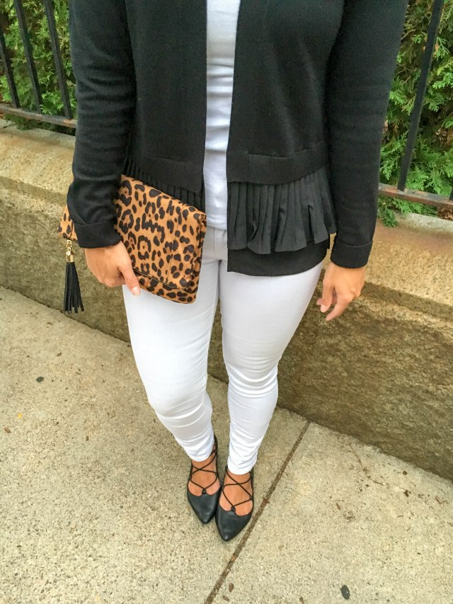 Leopard and Lace Ups- Transitioning to Fall-Fall Fashion- Leopard clutch- Boston Chic Party-5
